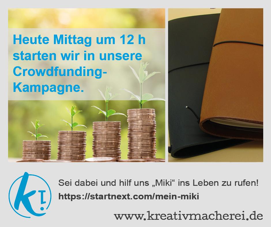 Start unserer Crowdfunding-Kampagne