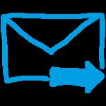 Briefumschlag mit Pfeil