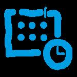 Kalender mit Uhr